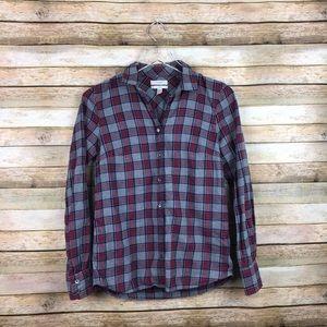 J. Crew • Boy Tartan Red Plaid Button Down Flannel